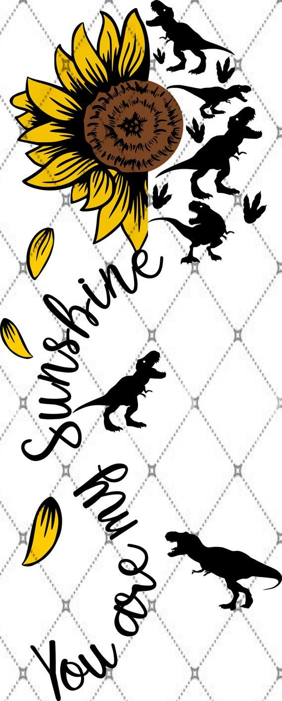 Dinosaur SUNFLOWER You are my Sunshine SVG png pdf eps