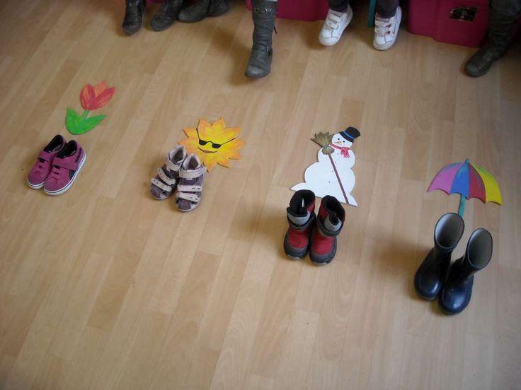 thema schoenen - seizoenen - weer