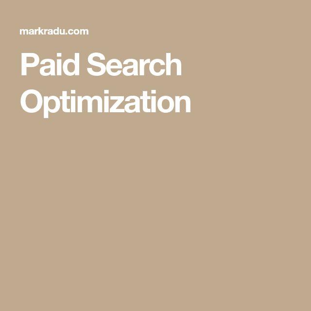 Paid Search Optimization