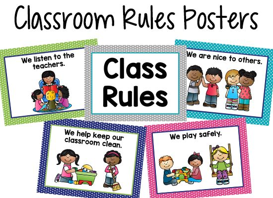 """I have used these 4 simple classroom rules for Pre-K for over 10 years. They have worked well because they cover everything, and are simple enough for young children to remember. I always tell my students the most important rule is """"Be nice to others"""" and I always put that poster first. I have made …"""