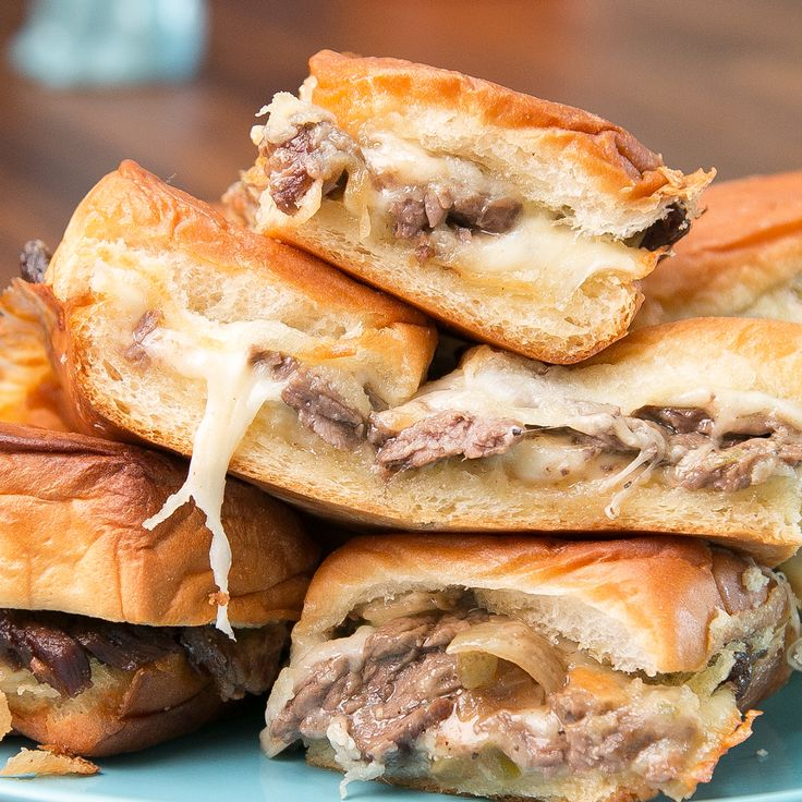 Is there anything as delicious as a Philly Cheesesteak Slider? No. There is nothing. So go make a bunch and ge...