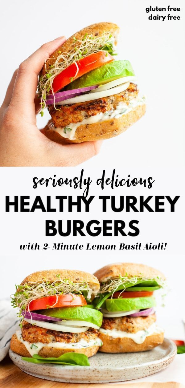 This Tasty And Easy Healthy Turkey Burger Recipe Is Super Simple And Topped With Avocado Sprouts Juicy Tomato Gesunde Burger Rezepte Gesund Burger Toppings