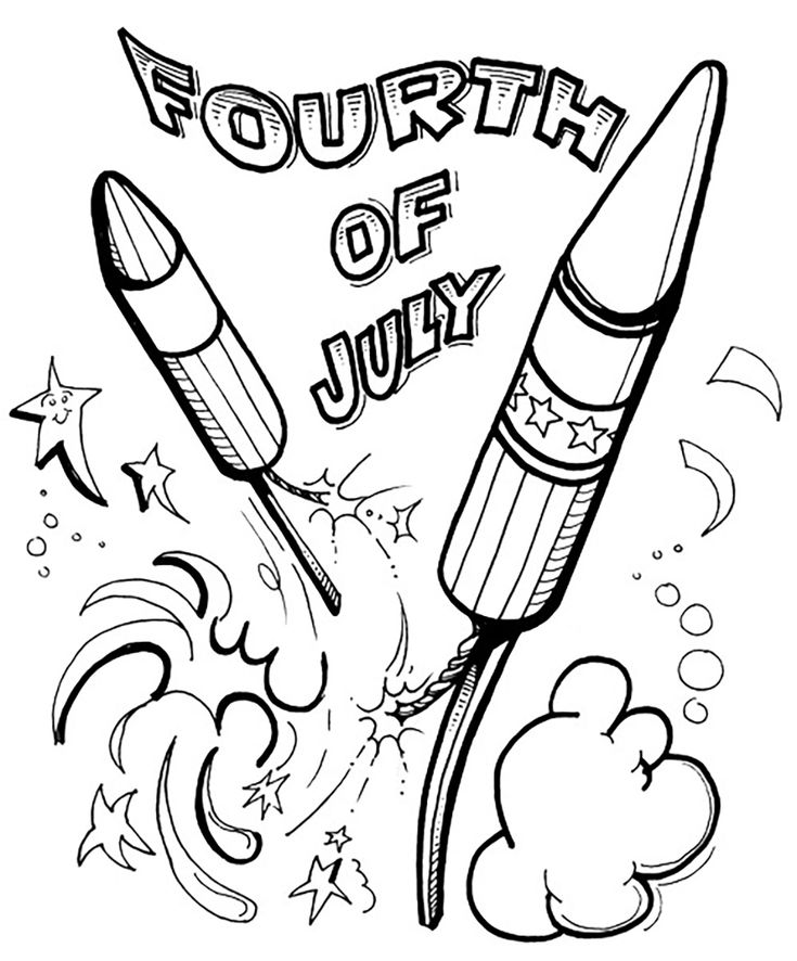 14 best 4th of july drawings images on pinterest for 4 of july coloring pages