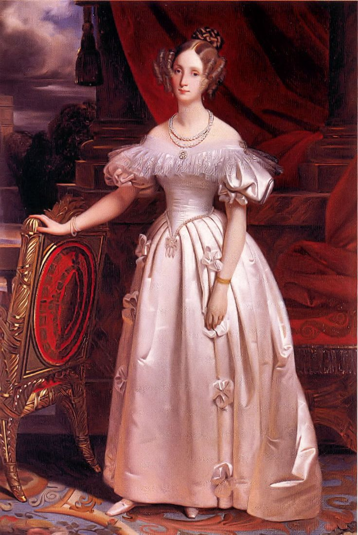 Louise of Orléans (1812-1850), princess of Orléans, queen consort of Belgium and daughter of Louis Philippe I of France | Claude Marie Dubufe (c. 1830)