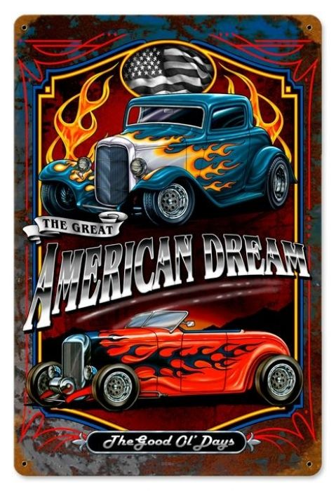 Vintage and Retro Tin Signs - JackandFriends.com - Vintage American Dream Metal Sign LARGE, $24.98 (http://www.jackandfriends.com/vintage-american-dream-metal-sign-large/)