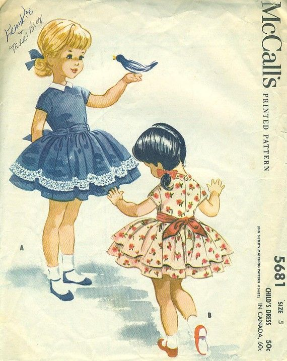 M5681 by Helen Lee, 1960 Wore these to grade school everyday