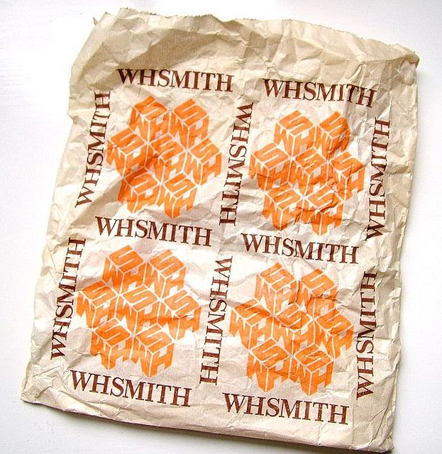 WHSmith paper bag from the 1980s