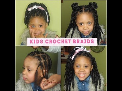 How To: Kids Crochet braids w four styles - YouTube