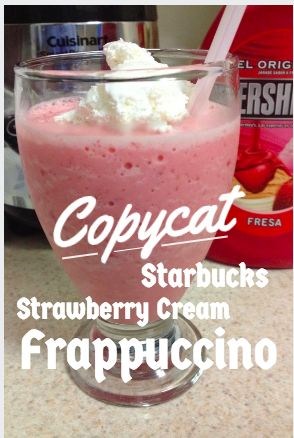 Starbucks Strawberry Frappuccino Copycat Recipe