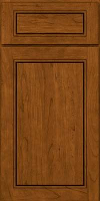 KraftMaid Cabinets -Square Raised Panel - Solid (PVC) Cherry in Golden Lager from waybuild