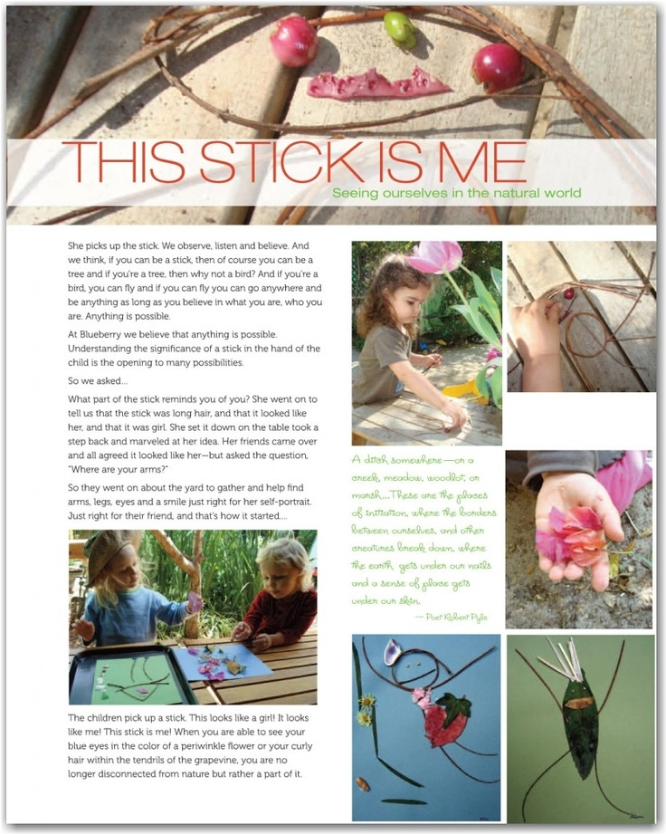 Beautiful Documentation. A piece of work that an educator took the time to be intentional with what the children were doing and present the work and learning in a thoughtful manner.