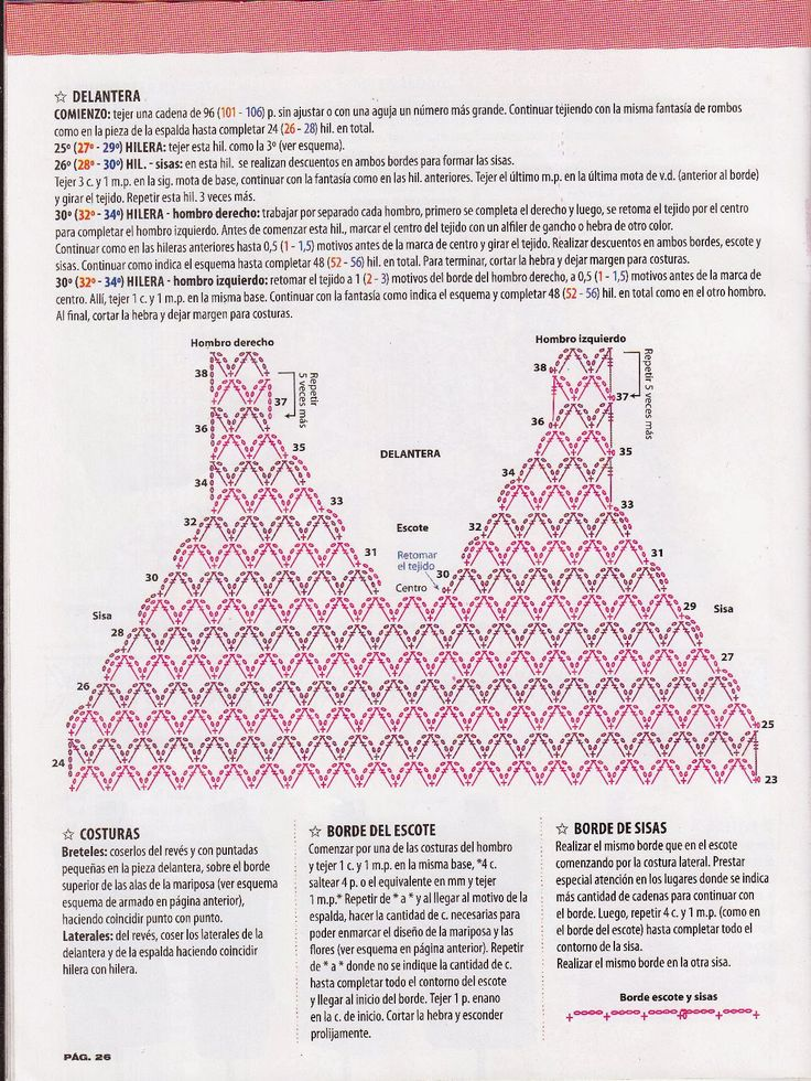 1751 best diagramas al crochet images on Pinterest | Crochet pattern ...