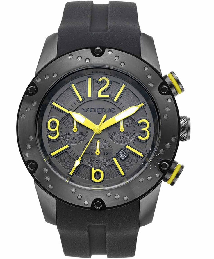 VOGUE Spirit Chrono All Black Rubber Strap  Μοντέλο: 202017101.5  Τιμή: 235€  http://www.oroloi.gr/product_info.php?products_id=31631