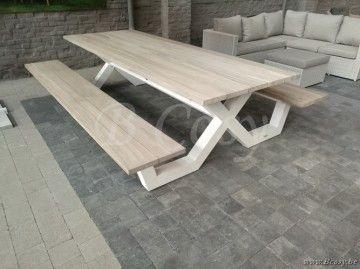 17 beste idee n over picknicktafels op pinterest. Black Bedroom Furniture Sets. Home Design Ideas