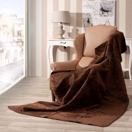 Dekoria Koc Cotton Cloud 150x200cm Dark Brown Wysokiej jakości koc bawełniano- akrylowy, w kolorze ciemnego brązu. Koc przyjemny, ciepły i miękki...