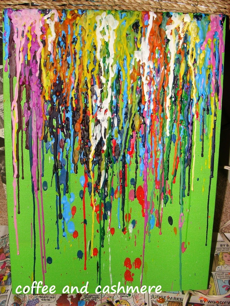 crayon melting on canvas instructions