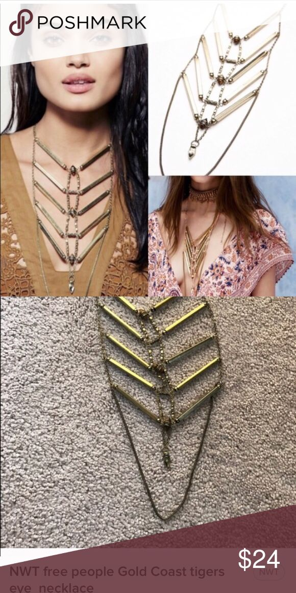 New free people Gold Coast tigers  eye necklace New free people Gold Coast tigers  eye necklace lowest price n6 no trades please Free People Jewelry Necklaces