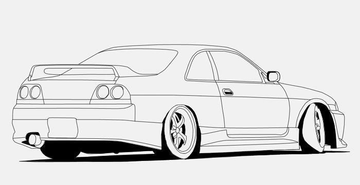 draw a drift car