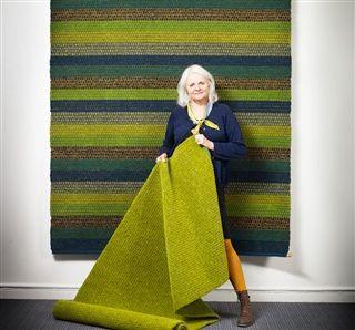 Happy Summer Holiday Rug and Rita rug with the chief designer of Kasthall Gunilla Lagerhem Ullberg