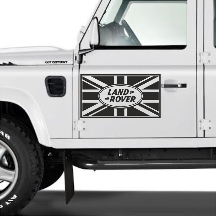 Landrover Discovery Side Stripe Decals Stickers Land Rover: 2X #LandRover Defender 90 110 Aftermarket UK Flag #Decal