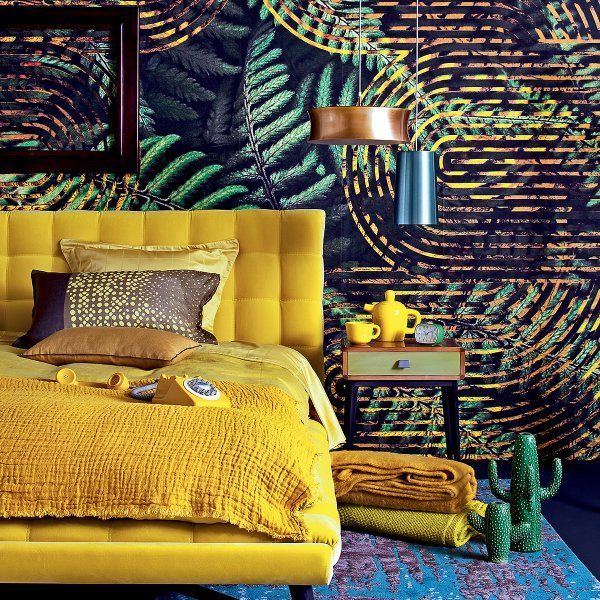 Les 25 meilleures id es de la cat gorie peinture jaune sur for Relooking chambre parents