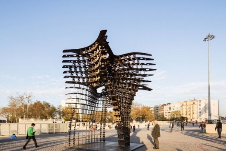 "GAD Architecture has installed their latest sculptural design, Serra Gate, in Istanbul's Taksim Square, just in time for Istanbul Design Week. Named after the minimalist sculptor whose work inspired the design, the Serra gate's steel form was created using cutting edge technology. The sinuous curvature was conceived through the software ""Mathematica,"" and was modeled using the latest 3D printing technologies."