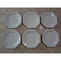 Conjunto Pratos Rasos 6 Peças Prisma Porcelana Schmidt