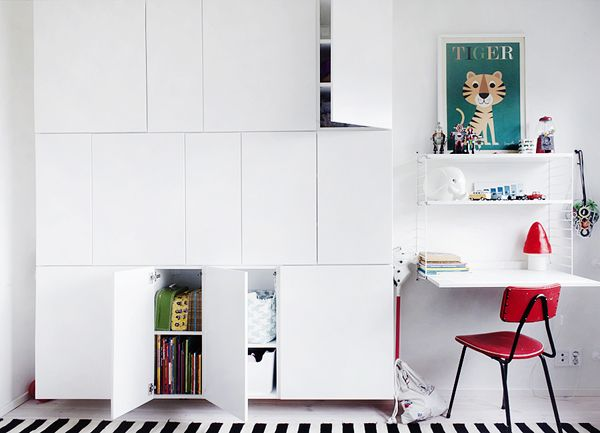 Opbevaringsplads i lille børneværelse - Ikea