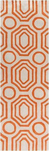 Surya Hudson Park Rug, HDP-2009, Burnt Orange, Ivory