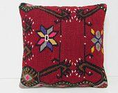 bohemian cushion 18x18 needlepoint pillow oversized pillow primitive pillow primitive country decor aztec pillow case handmade cushion 29017