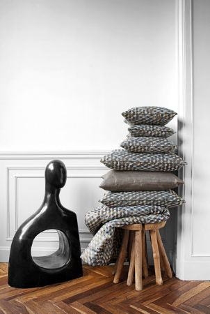 Lizzo - Bauhaus Fabric Collection - Stack of cushions covered in grey and white dotted fabric · Wooden StoolsStone ... & Best 25+ Small wooden stool ideas on Pinterest | Natural tabourets ... islam-shia.org