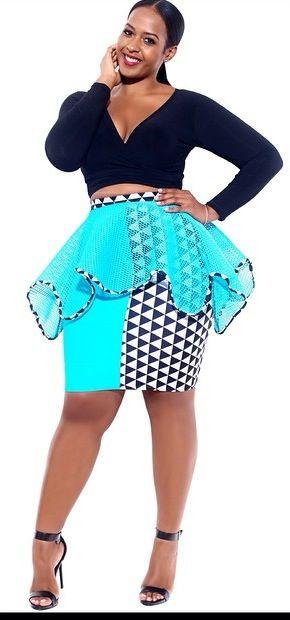 plus size sheer peplum skirt & crop top #UNIQUE_WOMENS_FASHION