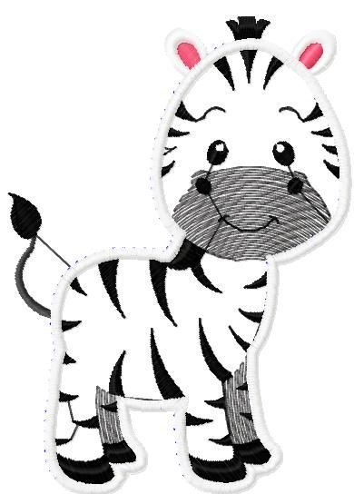 Zebra applique free embroidery design - Applique free