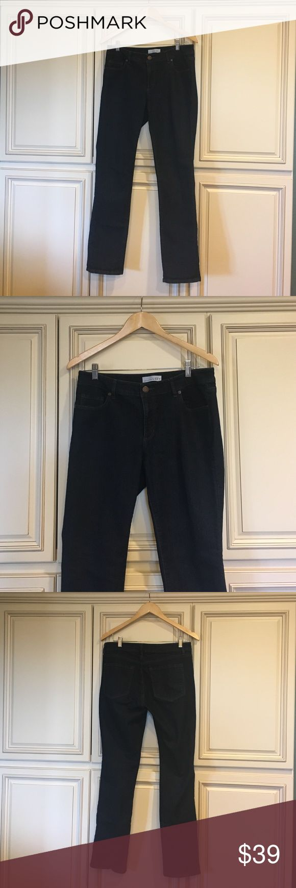 Loft Curvy Jeans Loft curvy straight-leg dark wash jeans. Worn only a handful of times. LOFT Jeans Straight Leg