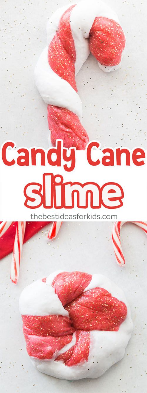 Candy Cane Slime Recipe! An awesome diy slime recipe that kids will love this holiday season! Great for Christmas sensory stations! #sensory #diyslime