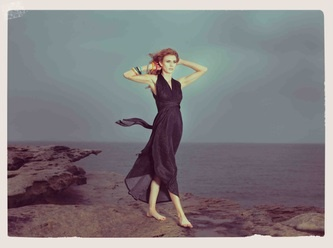 Halter dress by wanderlust clothing.  Love this image!  Very beautiful styling
