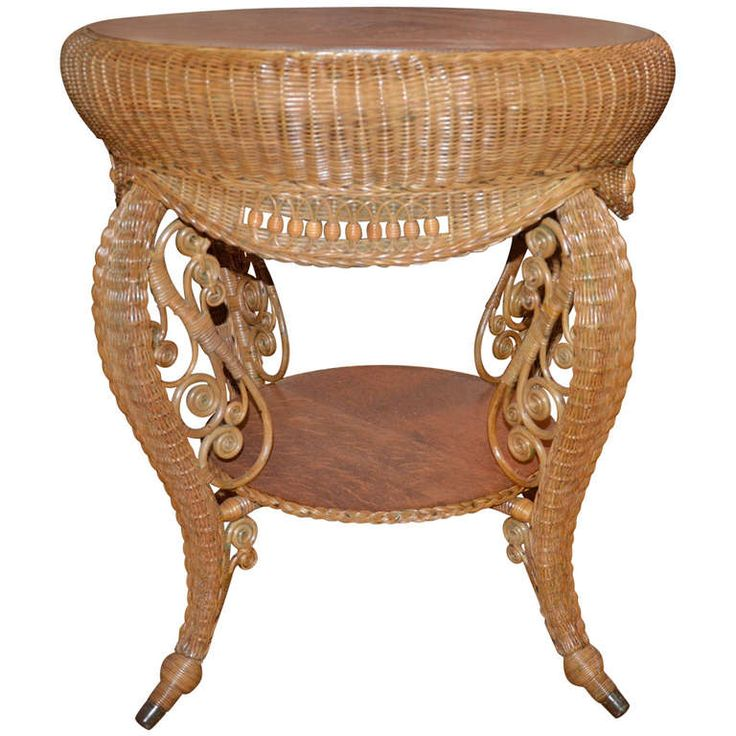 Contemporary Antique Wicker Furniture Victorian Table Throughout Decor