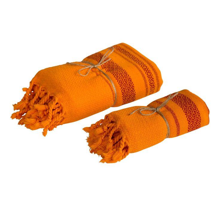 Siena Peshtemal Towel Set - Orange