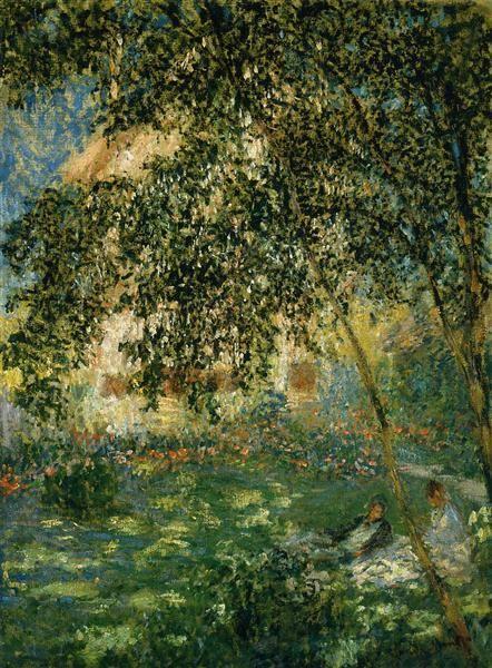 Relaxing in the Garden, Argenteuil, 1876 by Claude Monet. Impressionism. genre…