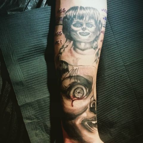 17 best images about the conjuring annabelle tattoos on pinterest to be studios and the o 39 jays. Black Bedroom Furniture Sets. Home Design Ideas