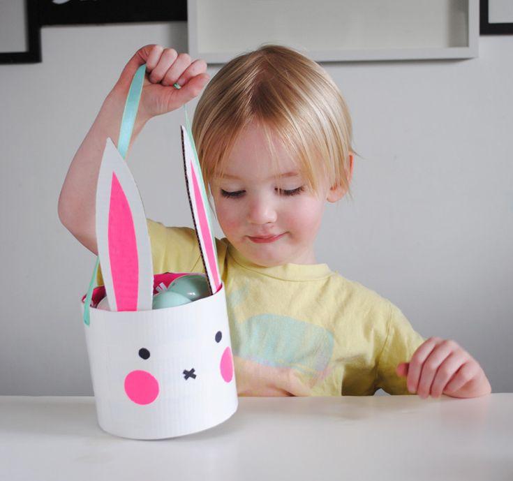 Panier de Pâques - Le joli lapin - DIY - MoiJeFais