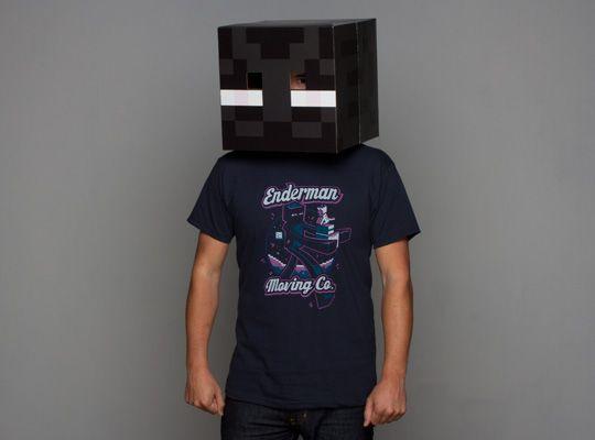 Minecraft Enderman Moving Company T-Shirt