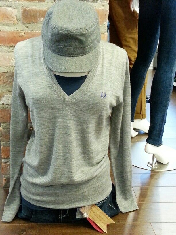 Running errands this weekend?   Fred Perry light knit sweater paired with a Ben Sherman cap and Becxy B denim.   One Rebellion Clothing Company