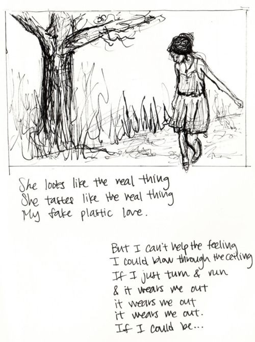 fake plastic trees - Radiohead my favorite part from my favorite song <3