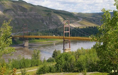 Dunvegan Bridge on the Peace River in northern Alberta