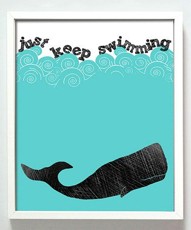 'Just Keep Swimming' Print by Gus & Lula