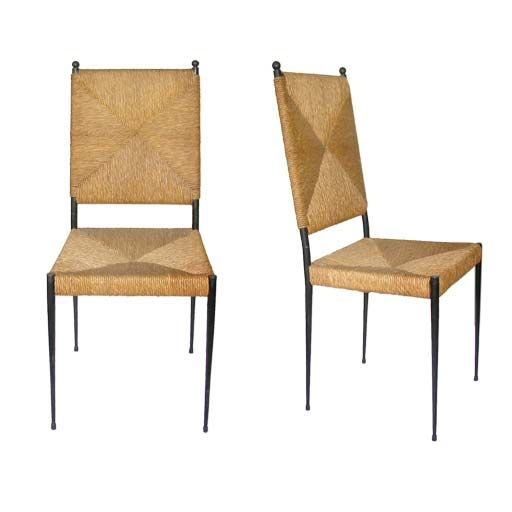 Set Of Six Rush Chairs By Colette Gueden In 2018 Chaired Pinterest Chair Dining Room And Furniture