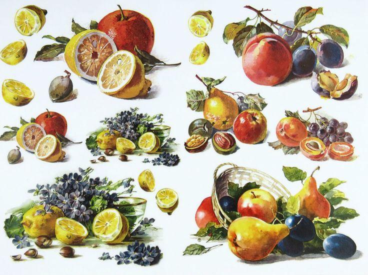 картинки овощей и фруктов для декупажа богача пошёл гимназию