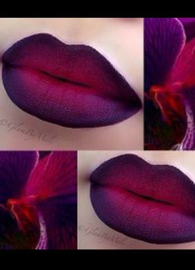red purple ombre lips