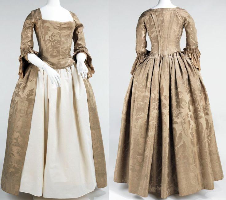 Wedding dress, 1776, American, silk.